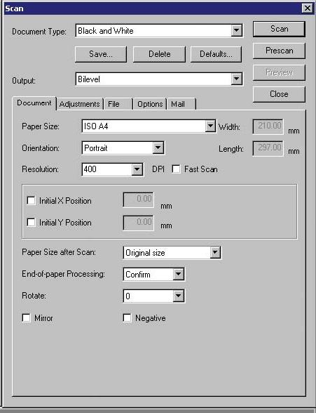 how to change scanner dpi settings